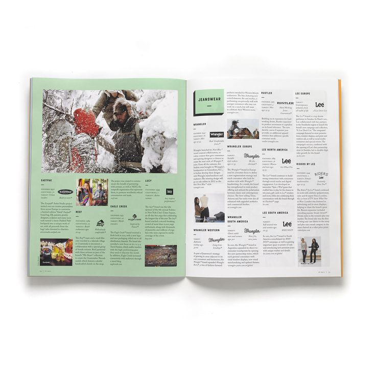 Nice. A balanced modern look, not too hipsterish. Annual Report 2011 of brands holding VF Corporation.