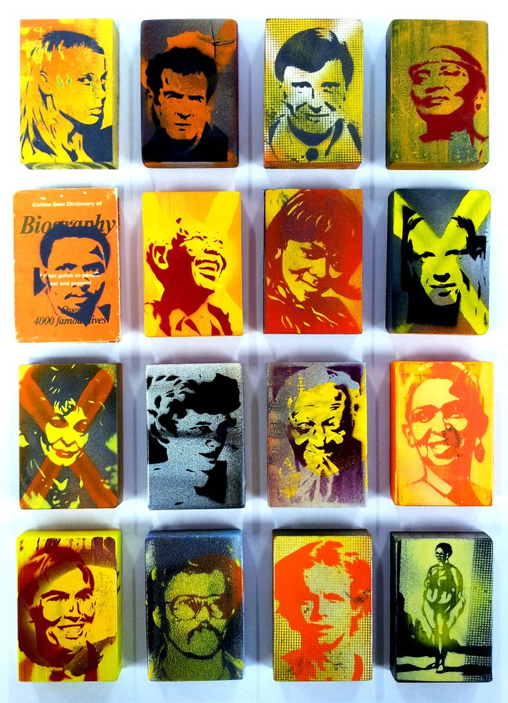 Biography, Alex Hamilton - 16 individual hand cut stencil icons