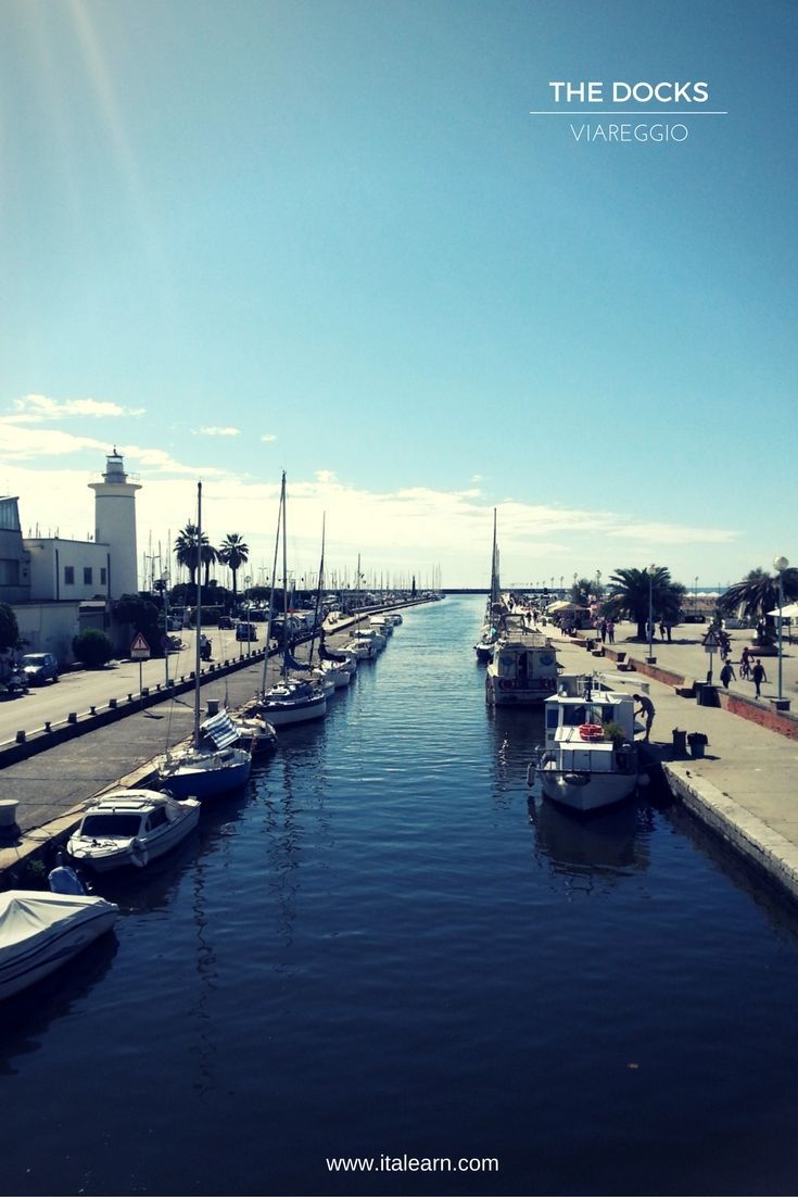 The docks, in Viareggio. Go for a walk and a fried fish treat, directly from the…