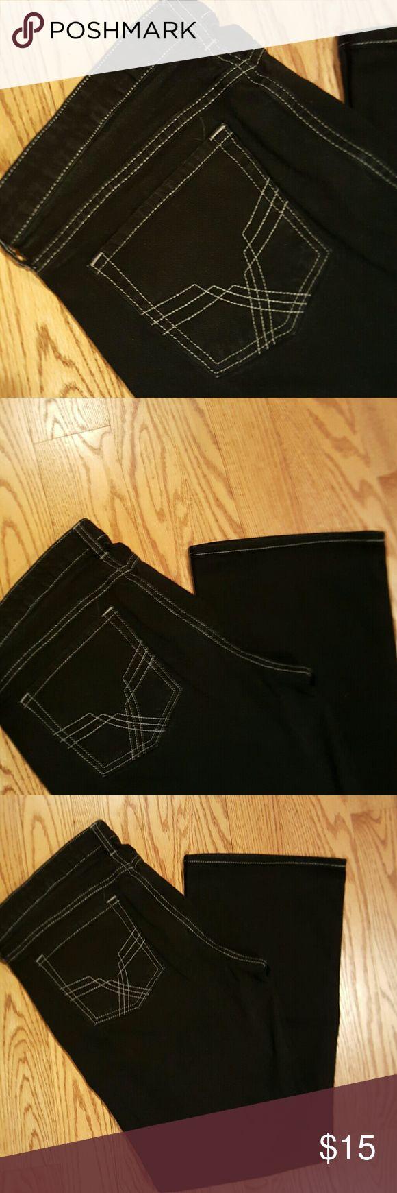 Gap Outlet Black Bootcut Jeans Black GAP Outlet Jeans Boot Cut
