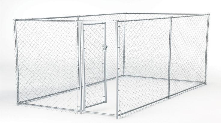 Lucky Dog™ Galvanized Box Chain Link Yard Kennel