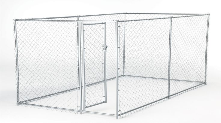 Lucky Dog™ Galvanized Box Chain Link Yard Kennel