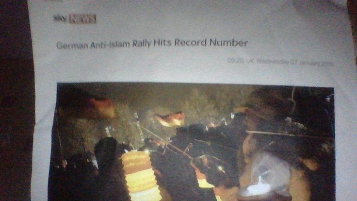 Breaking : German Anti Islam Rally Reaches Record Number - TNTV