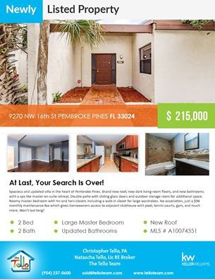 TelloTeam Newly listed property  8747 SW 52 St Cooper City, FL 33328