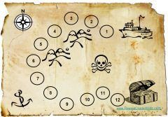 Pirate Sticker Chart which looks like an old pirate map which shows the way to the treasure