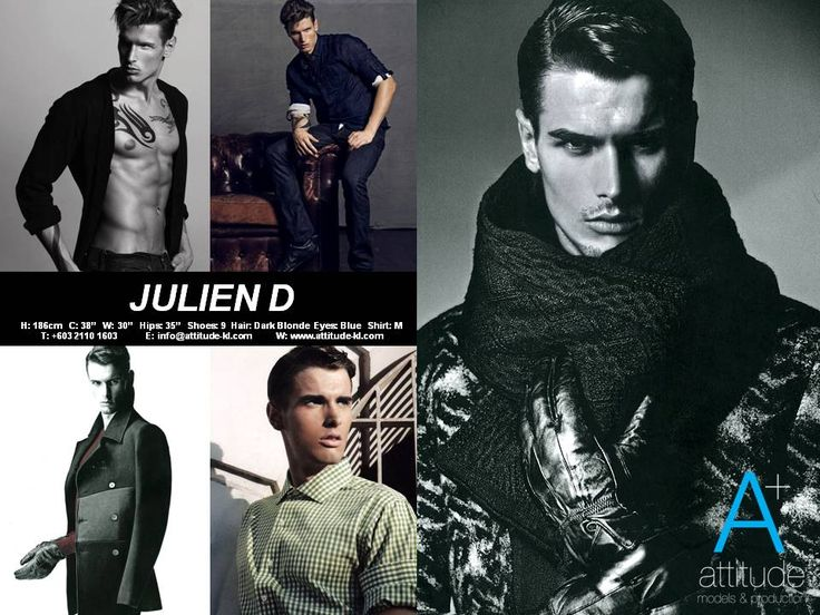 Julien's Comp Card for Attitude Models Kuala Lumpur.