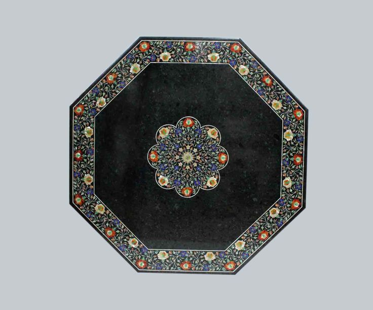 Dining Table Marble inlay Marquetry Pietra Dura Handicraft Mosaic Tables by MARBLEINLAY on Etsy