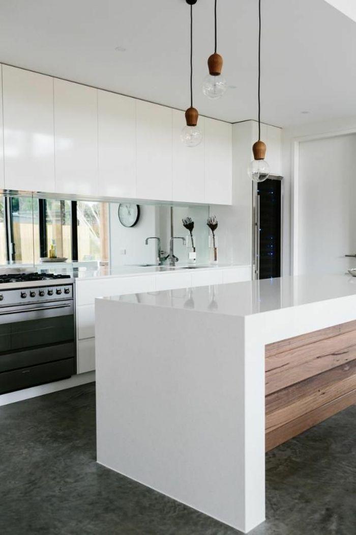 die besten 25+ glasrückwand ideen auf pinterest | glasrückwand ... - Lackiertes Glas Küchenrückwand