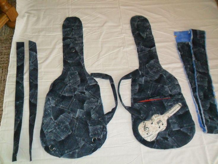 Rozpracovaný obbal na kytaru, vlastní návrh