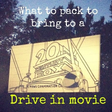 Tips for what to pack for the drive in movie theater.