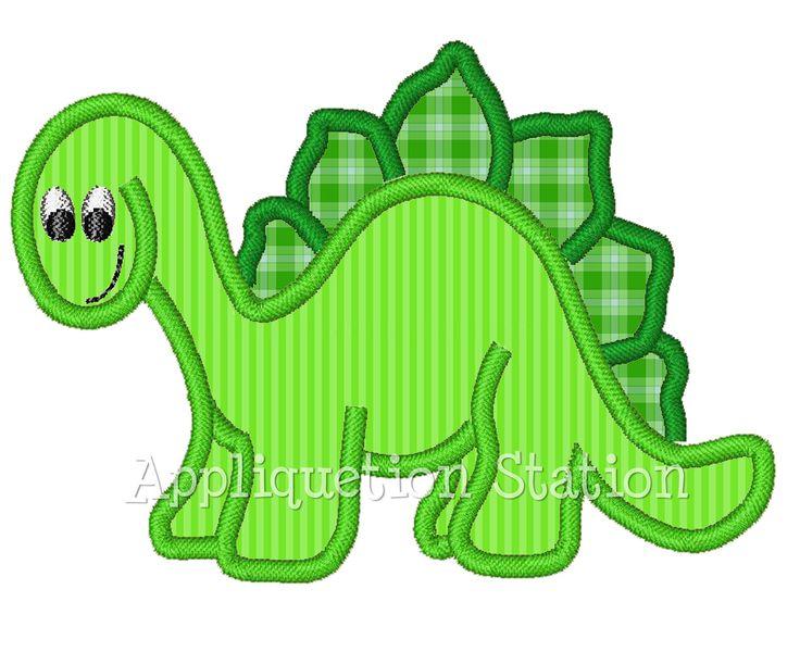 Dinosaur Boys Applique Machine Embroidery by AppliquetionStation, $3.25