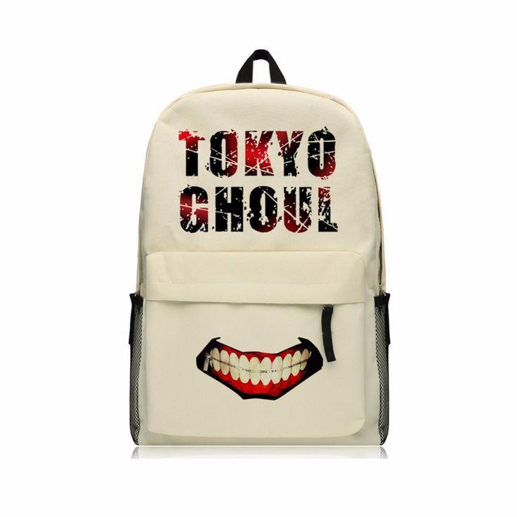 Tokyo Ghoul School Backpacks for Boys Kaneki Ken Shoulder Bags Oxford Rucksack Zip Mouth Backpacks Boys Mochila