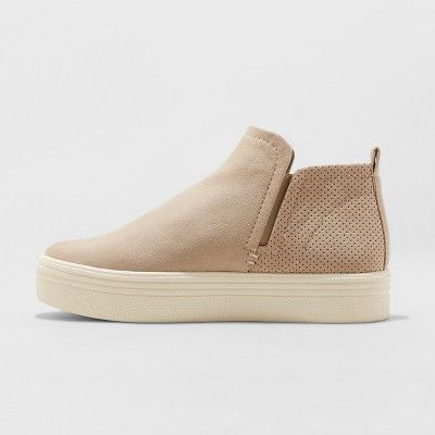 Women s Liz Microsuede High Top Sneakers - Universal Thread Taupe (Brown) 11 eff44992a