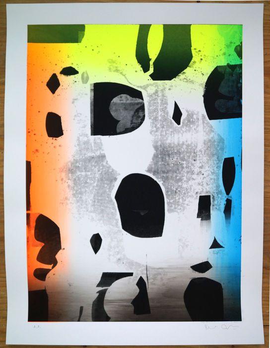 Gfeller  Hellsgård - Untitled 76  Dit is een zeldzame Artists bewijs van een editie van handprinted screen-prints de totale editie was 20 ex en er was 2 A.P.De afdruk is 80 x 60 cm inclusief een 5 cm wit kader rond het afdrukgebied de conditie is goed dat het zal worden verzonden uit Berlijn gerold in een buis.Dit unieke zeefdruk stijl uit Gfeller Hellsgård een duo kunstenaars uit Berlin heeft hen gemaakt erkend wereldwijd. Ze zijn in verschillende collecties - MoMA New York het Metropolitan…