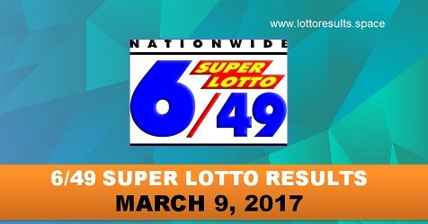 6-49 super lotto results march 9, 2017 thursday