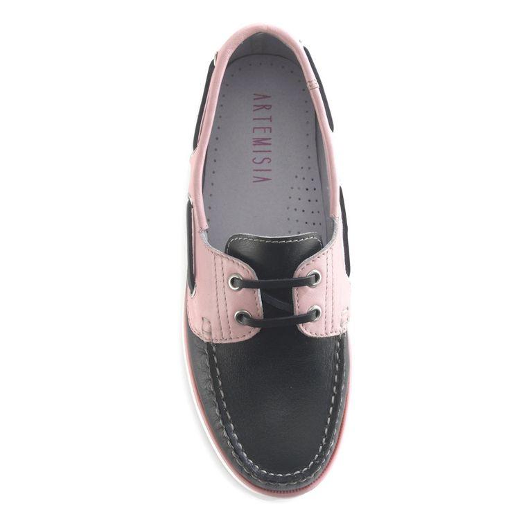 Diana Black Boat Shoe