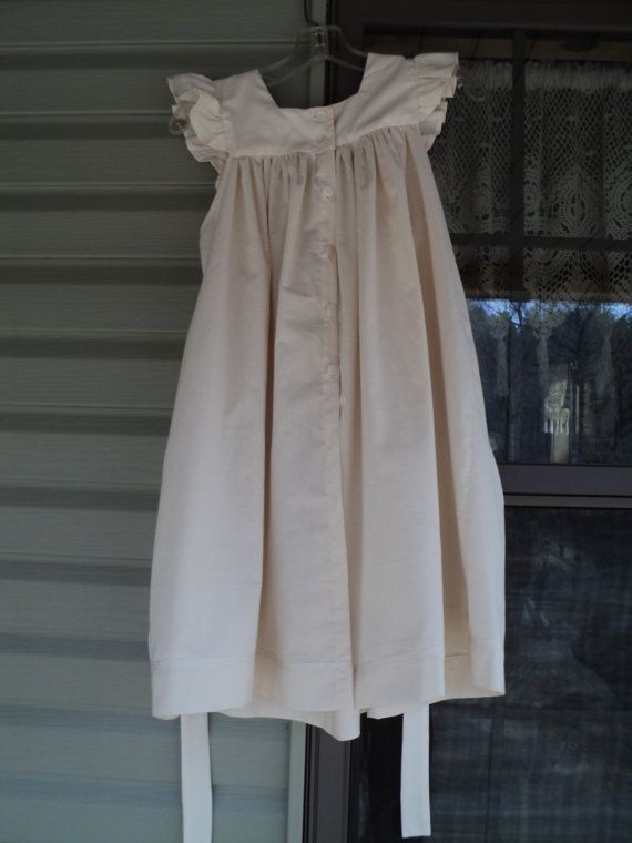 Handmade girl's Pinafore apron overdress old-fashioned pioneer victorian duster Civil War pinny everyday dress--MADE TO ORDER