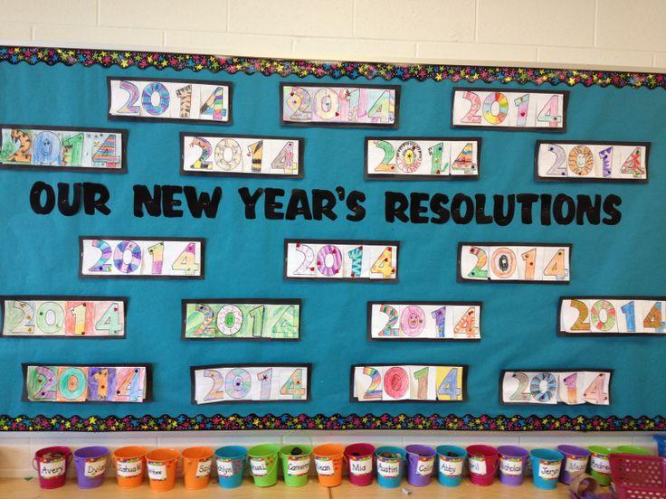 New Year's Resolutions bulletin board   Bulletin Boards ...