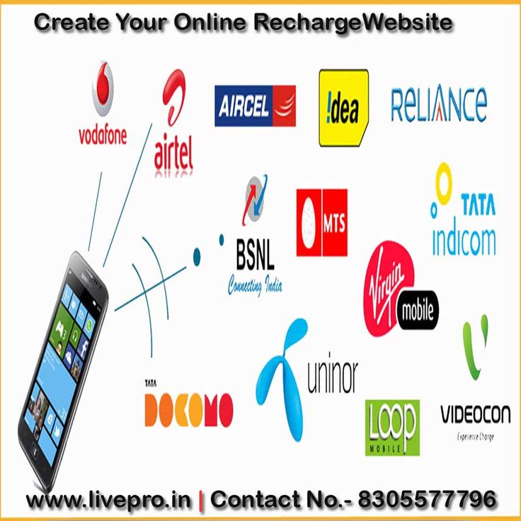 Create your own online recharge website. For more info: http://www.livepro.in