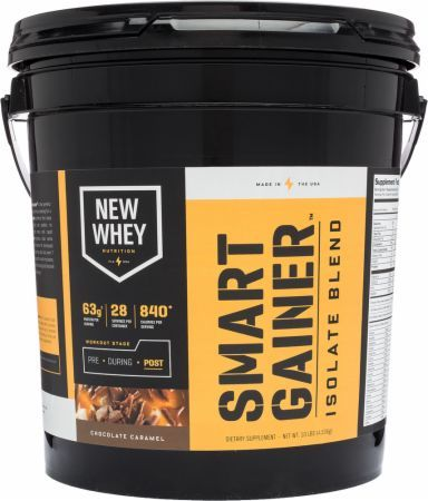 New Whey Nutrition Smart Gainer Chocolate Caramel 10 Lbs. IDS038 Chocolate Caramel - The Ultimate Mix Of Protein, Calories, Creatine, Glutamine & More!