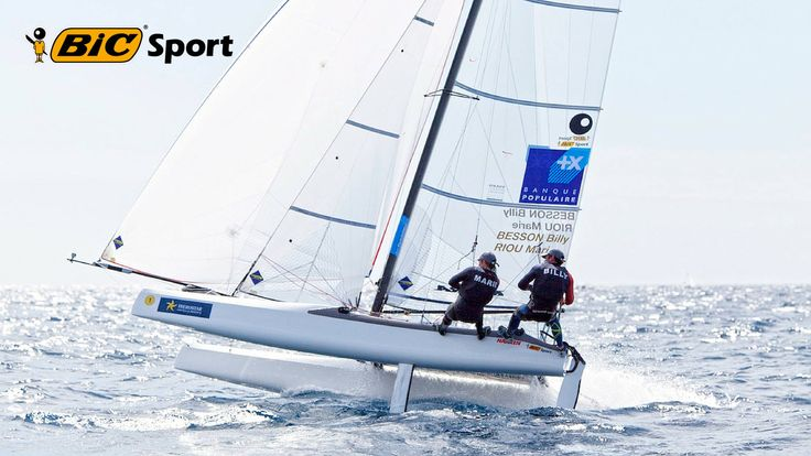 """Marie Riou & Billy Besson : """"ON A LE STATUT DE FAVORIS"""" #Coach #Coaching #Goaleo #YourSportYourGoal #MarieRiou #BillyBesson #JO #voile #Nacra17 #vent #courants #baie"""