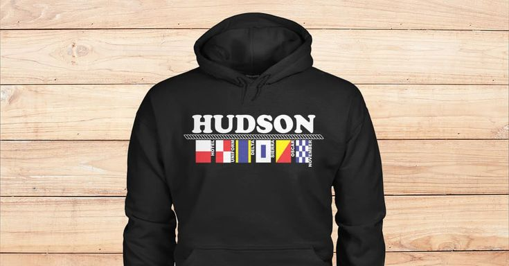 SPECIAL BLACK HOODIES FOR HUDSON. Please checkout on Viralstyle!#names #alphabet #flags #alphabetflags #hudson #nameshudson