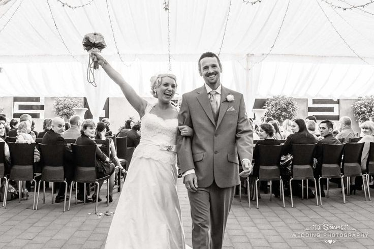 The post wedding ceremony cheer.  Always a winning shot. More wedding photography by Anthony Turnham at www.snapweddingphotography.co.nz
