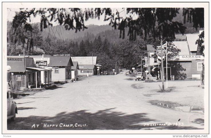 "RP: Main Street at ""HAPPY CAMP"" California , 30-40s J.H.Eastman pHoto postcard # B-1473 - Delcampe.com"