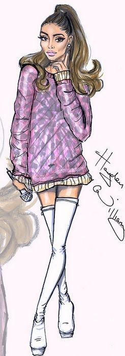 Ariana Grande by Hayden Williams Fashion Illustration | House of Beccaria~