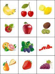 Fruitmemory, free printable / Jeu de mémoire à imprimer - les fruits
