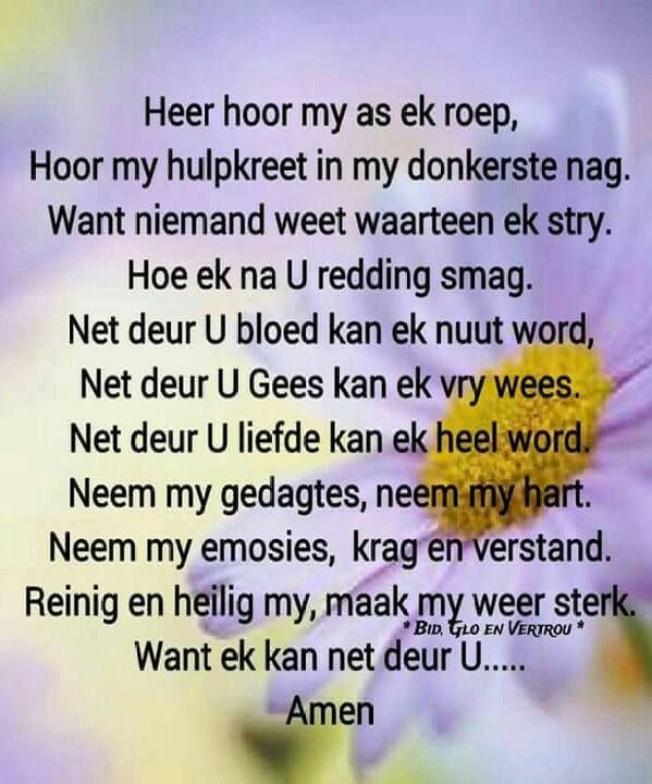Gebed... #Afrikaans #Prayer                                                                                                                                                                                 More