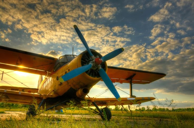 Old Airplane at Sunset puzzle in Aviation jigsaw puzzles on TheJigsawPuzzles.com. Play full screen, enjoy Puzzle of the Day and thousands more.