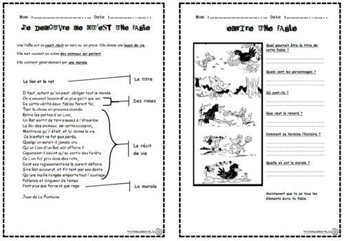Le corbeau et le renard, écrire, expression écrite, fables