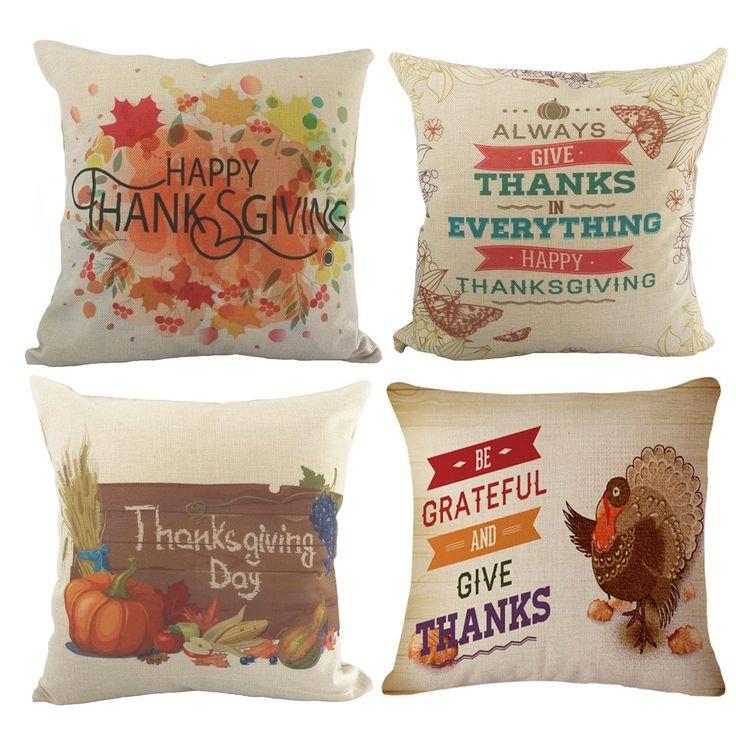 Fundas para cojines Thanksgiving 4 pzas