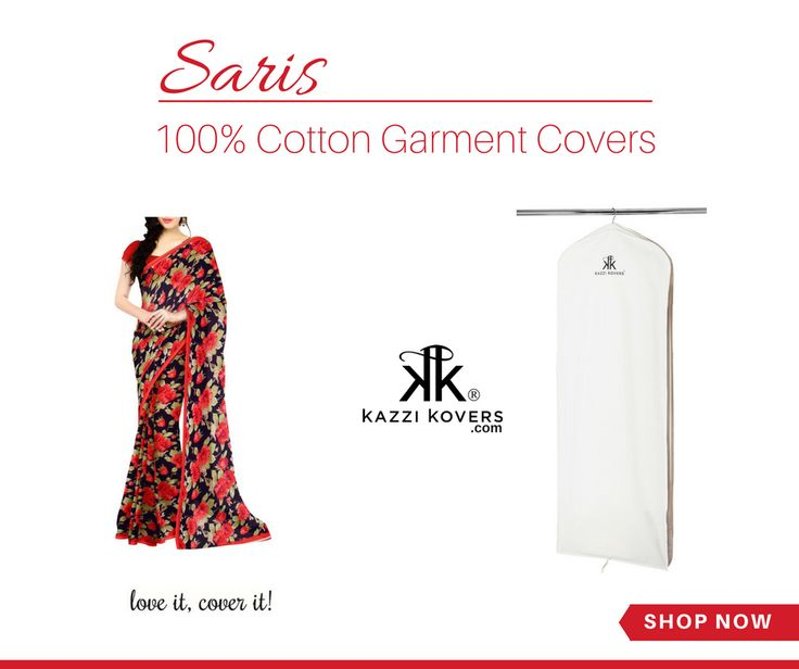 SARIS | Made from lovely silks and cottons, saris need that extra bit of protection and care when storing or travelling for events or weddings. Our premium long garment bag is ideal to safeguard your saris against the elements.