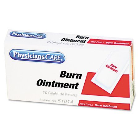 PhysiciansCare by First Aid Only First Aid Kit Refill Burn Cream Packets, 12/Box, Multicolor