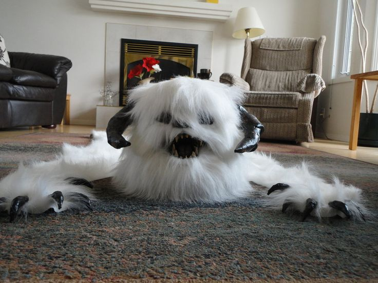 Wampa Skin Rug  Front By Creature Cave