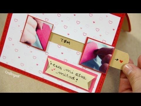 "Tarjeta ""Mi otra mitad"" - Manualidad 14 de Febrero ♥ San Valentin"