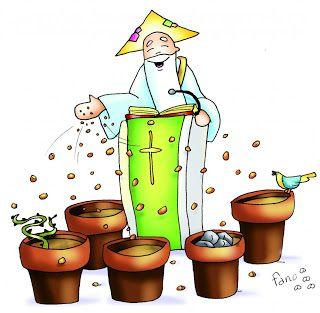 Io e un po' di briciole di Vangelo: (Mt 13,1-23) Il seminatore uscì a seminare.