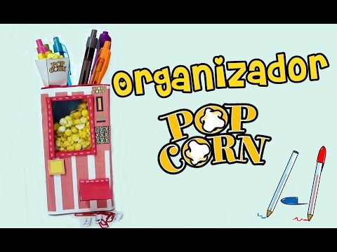 Mini Organizador Maquina de palomitas, Diy Manualidades originales. - YouTube