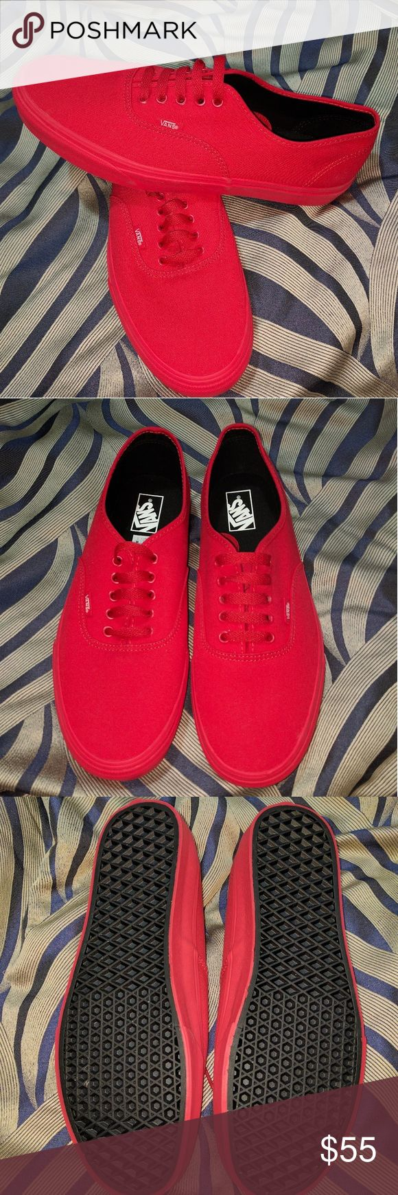 Red Vans Men's size 12 Mono red vans, NWOT. No box included Vans Shoes