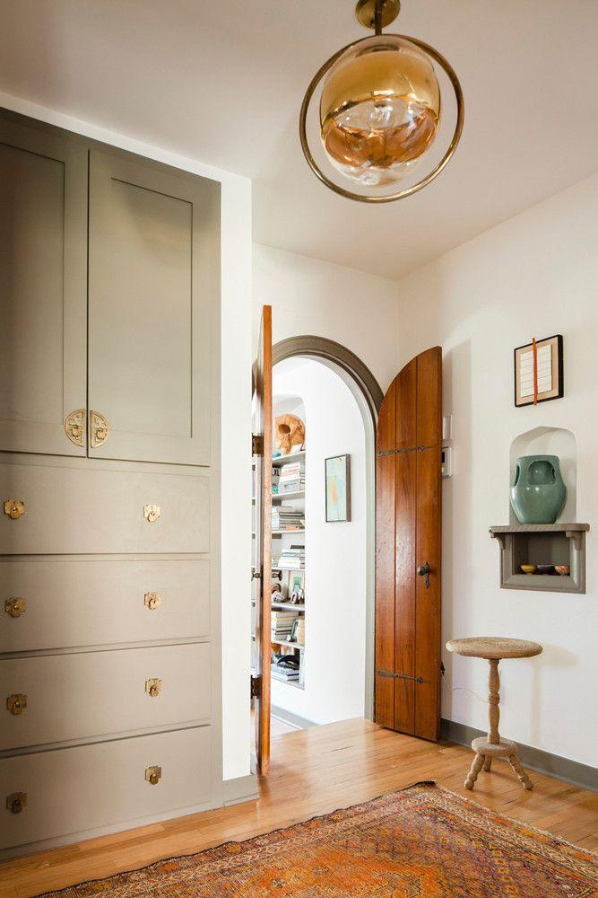 Home Renovation Keeping Original 1920 Architecture Tour modern light fixture entry hall