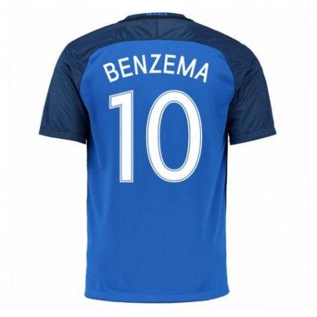 Frankrike 2016 Karim Benzema 10 Hjemmedrakt Kortermet.  http://www.fotballteam.com/frankrike-2016-karim-benzema-10-hjemmedrakt-kortermet.  #fotballdrakter