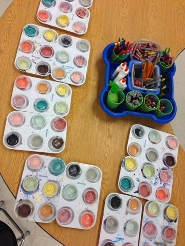 PREPPING GLAZES FOR BACK TO BACK CLASSES---Crystal Jahnig's Art Room: Clay in the Elementary Art Room