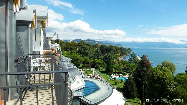 """Considered to be one of Europe's finest hotels, the Beau-Rivage Palace remains true to its traditional values while at the same time constantly breathing new life into the hotel, matching the rapid and fascinating development of the """"history of travel"""". #luxuryhotel #hotel Hôtel Beau-Rivage Palace - Suisse"""