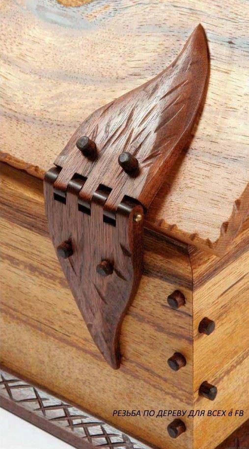 В качестве примера и идеи для работ - деревянные петли и гвозди от Doug Stowe