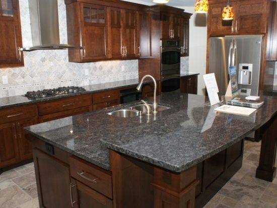 White Silver Granite Countertop : Silver Pearl granite Kitchen countertops & island. Would also look ...