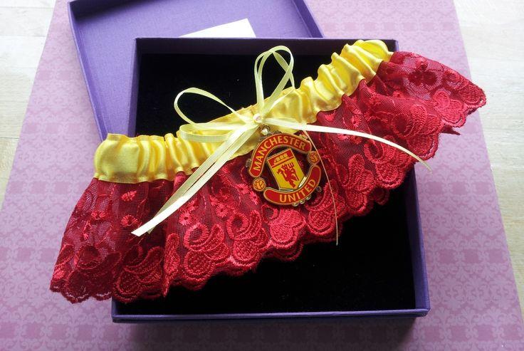 Handmade Manchester United garter