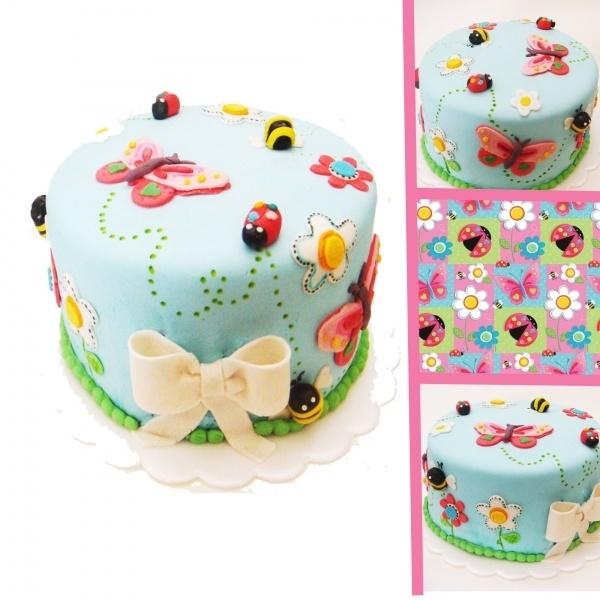 Garden Girl Bithday Cake