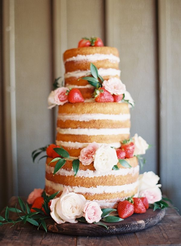 naked strawberry wedding cake | Chris Isham